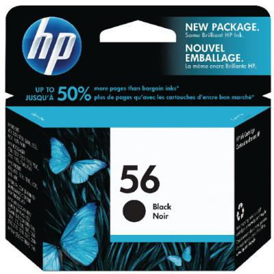 Genuine HP C6656AE (#56) Black Ink Cartridge (HP56BKOEM)