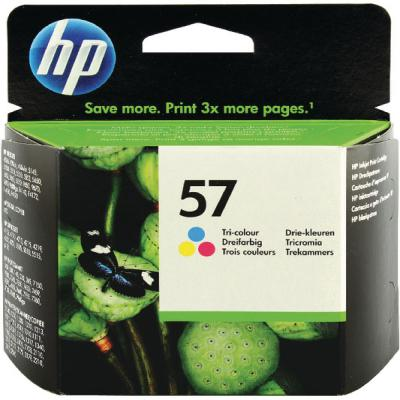 Genuine HP C6657AE (#57) Tri-Colour Ink Cartridge (HP57CLROEM)