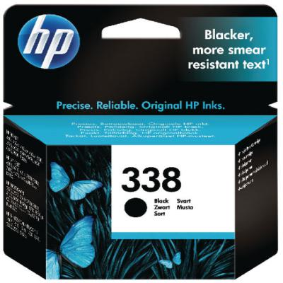 Genuine HP C8765EE (#338) Black Ink Cartridge (HP338BKOEM)