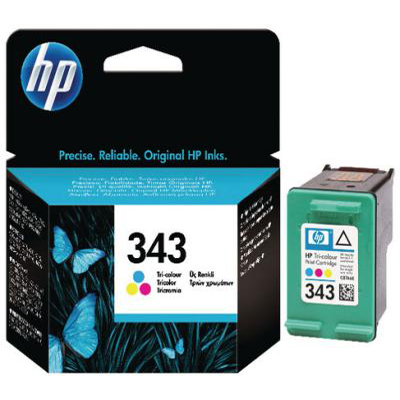Genuine HP C8766EE (#343) Tri-Colour Ink Cartridge (HP343CLROEM)