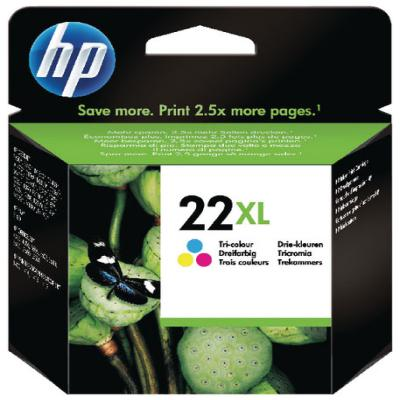 Genuine HP C9352CE (#22H) Tri-Colour High Capacity Ink Cartridge (HP22XLCLRHOEM)