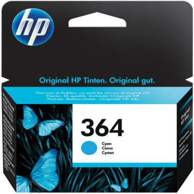 Genuine HP CB318EE (#364) Cyan Ink Cartridge (HP364COEM)