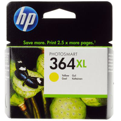 Genuine HP CB325EE (#364H) Yellow High Capacity Ink Cartridge (HP364XLYHOEM)