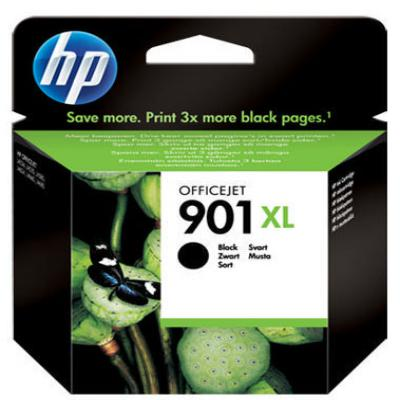 Genuine HP CC654AE (#901H) Black High Capacity Ink Cartridge (HP901XLBKHOEM)