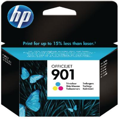 Genuine HP CC656AE (#901) Tri-Colour Ink Cartridge (HP901CLROEM)