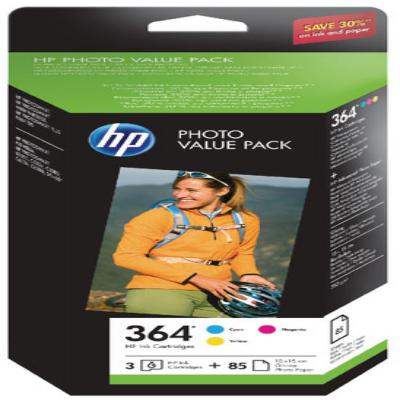 Genuine HP CH082EE (#364) C/M/Y Photo Value Pack Ink Cartridge (HP364CMYPHOTOVALUEOEM)