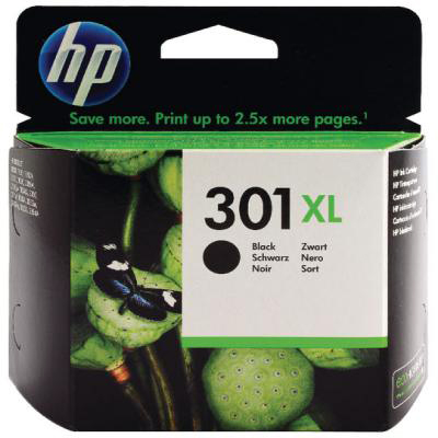 Genuine HP CH563EE (#301H) Black High Capacity Ink Cartridge (HP301BKHOEM)