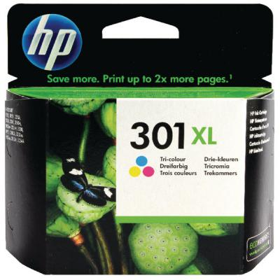 Genuine HP CH564EE (#301H) Tri-Colour High Capacity Ink Cartridge (HP301CLRHOEM)