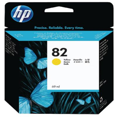 Genuine HP CH568A  (#82) Yellow Ink Cartridge (HP82YOEM)