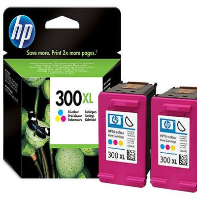 Genuine HP D8J44AE  (#300H) Tri-Colour High Capacity Twin Pack Ink Cartridge (HP300XLTWINHOEM)