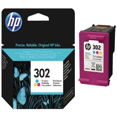 Genuine HP F6U65AE (#302) Tri-Colour Ink Cartridge (HP302CLROEM)
