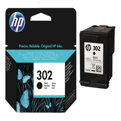 Genuine HP F6U66AE (#302) Black Ink Cartridge (HP933XLYHOEM)