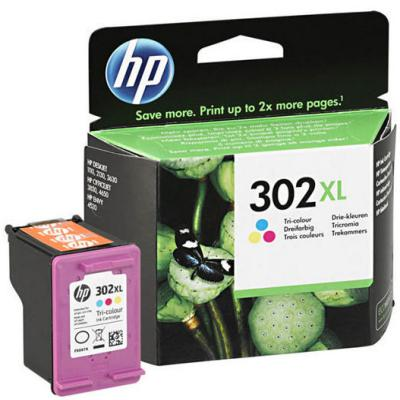 Genuine HP F6U67AE (#302) Tri-Colour High Capacity Ink Cartridge (HP302XLCLRHOEM)