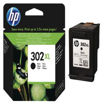 Genuine HP F6U68AE (#302) Black High Capacity Ink Cartridge (HP302XLBKHOEM)