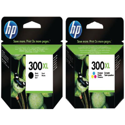 Genuine HP (#300) BK/Tri-Colour High Capacity Multi Pack Ink Cartridge (HP300XLBKCLRHMULTIOEM)