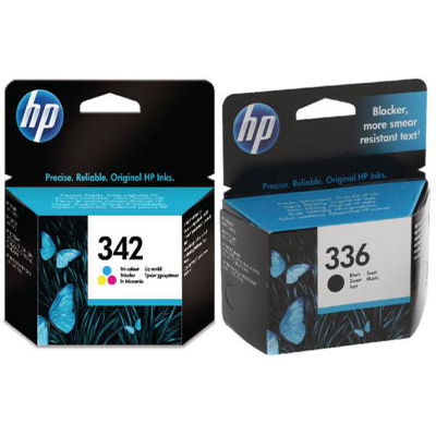 Genuine HP (#336) Black HP (342) Tri-Colour Multi Pack Ink Cartridge (HP336BKHP342CLRMULTIOEM)