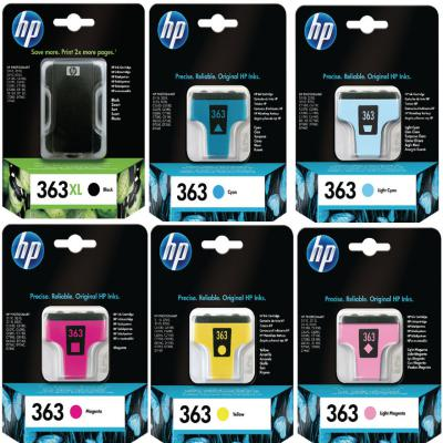 Genuine HP (#363) BKXL/C/M/Y/LC/LM Multi Pack Ink Cartridge (HP363XLBKCMYLCLMOEM)