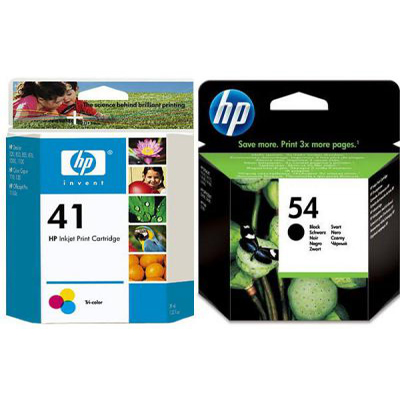 Genuine HP (#45) Black HP (#41) Tri-Colour Twin Pack Ink Cartridge (HP45BKHHP41CLRTWINOEM)