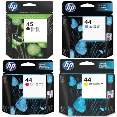 Genuine HP (#45H) Black HP (#44) C M Y Multi Pack Ink Cartridge (HP45BKHHP44CMYMULTIOEM)