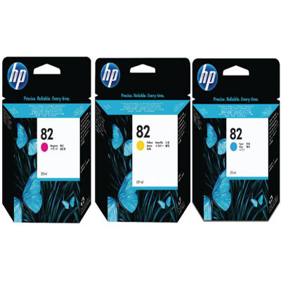 Genuine HP (#82) BK/C/M/Y High Capacity Ink Cartridge (HP82BKCMYHOEM)