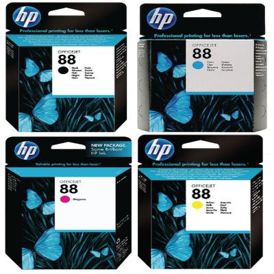 Genuine HP (#88) BK/C/M/Y Multi Pack ink Cartridge (HP88BKCMYOEM)