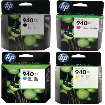 Genuine HP (#940H) BK/C/M/Y High Capacity Twin Pack Ink Cartridge (HP940XLBKCMYMULTIOEM)