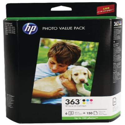 Genuine HP (#363) BK/C/M/Y/LC/LM Photo Pack Ink Cartridge (HP363PHOTOOEM)