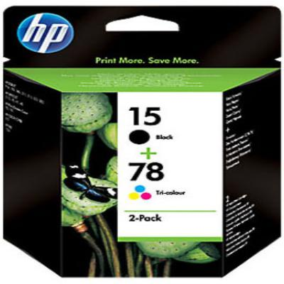 Genuine HP SA310AE (#15) Black HP (#78) C/M/Y Multi Pack Ink Cartridge (HP15HP78CMYMULTIOEM)