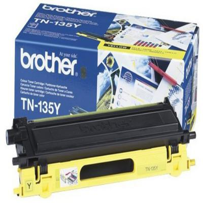 Genuine Brother TN-135Y Yellow High Capacity Toner Cartridge (TN135YOEM)