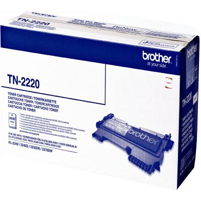 Genuine Brother TN-2220 Black High Capacity Toner Cartridge (TN2220BKOEM)