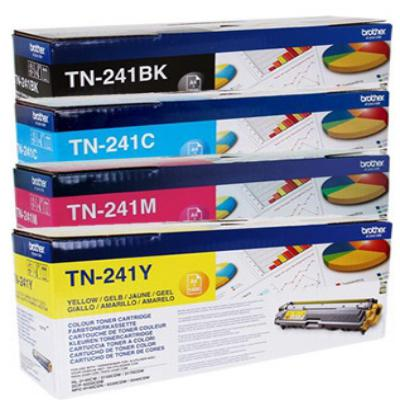 Genuine Brother TN-241 BK/C/M/Y Multi Pack Toner Cartridge (TN241BKCMYMULTIOEM)