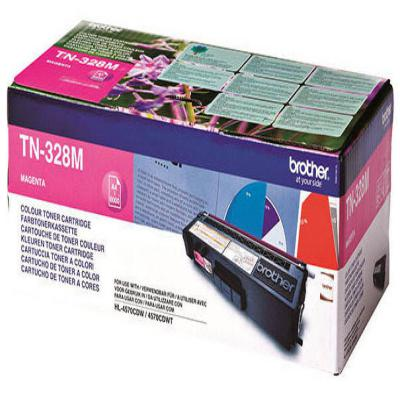 Genuine Brother TN-328M Magenta High Capacity Toner Cartridge (TN328MOEM)