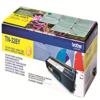 Genuine Brother TN-328Y Yellow High Capacity Toner Cartridge (TN328YOEM)