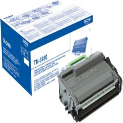 Genuine Brother TN-3480 Black High Capacity Toner Cartridge (TN3480BKOEM)