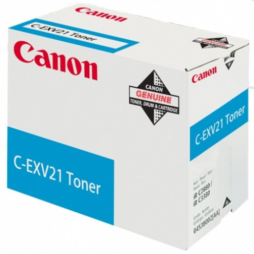 Genuine Canon CEXV21C Cyan Toner Cartridge (0453B002AA)
