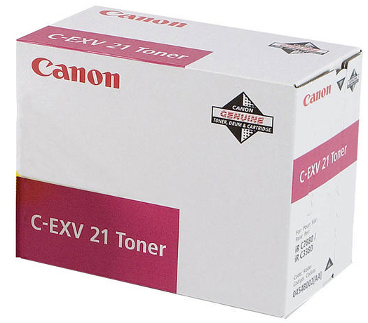 Genuine Canon C-EXV21M Magenta Toner Cartridge (0454B002AA)
