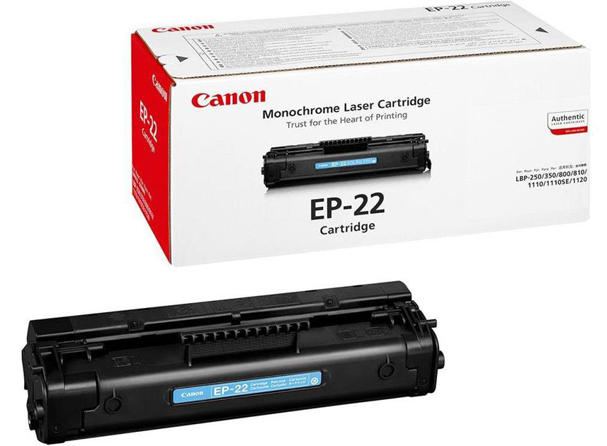 Genuine Canon EP-22 Black Toner Cartridge (EP22BKOEM)