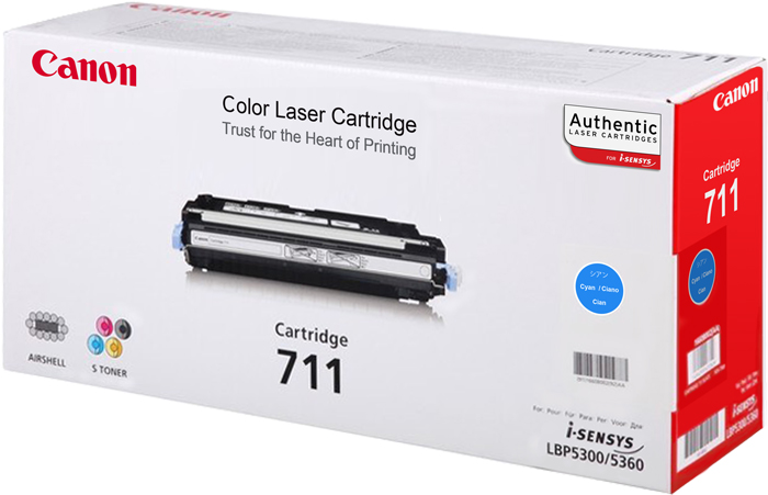 Genuine Canon 711 Cyan Toner Cartridge (711COEM)