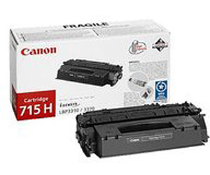 Genuine Canon 715H Black High Capacity Toner Cartridge (715BKHOEM)