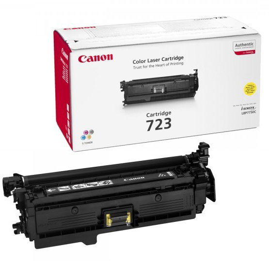 Genuine Canon 723 Yellow Toner Cartridge (723YOEM)