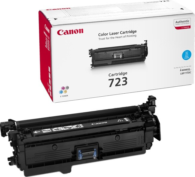 Genuine Canon 723 Cyan Toner Cartridge (723COEM)
