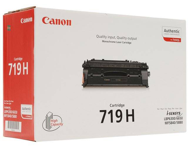 Genuine Canon 719H Black High Capacity Toner Cartridge (3480B002AA)