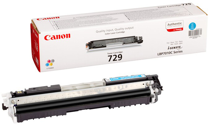 Genuine Canon 729C Cyan Toner Cartridge (4369B002AA)