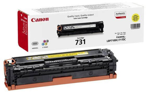 Genuine Canon 731Y Yellow Toner Cartridge (6269B002)