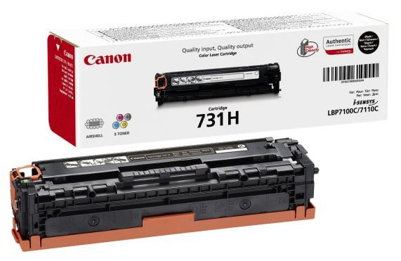 Genuine Canon 731H Black High Capacity Toner Cartridge (731HBKOEM)