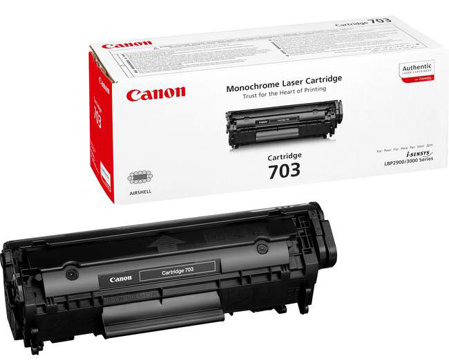 Genuine Canon 703 Black Toner Cartridge (703BKOEM)