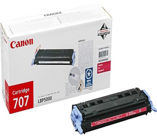 Genuine Canon 707 Magenta Toner Cartridge (707MOEM)