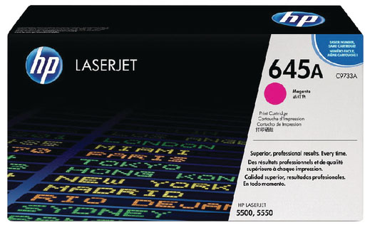 Genuine HP C9733A (#645A) Magenta Toner Cartridge (HPC9733AMOEM)