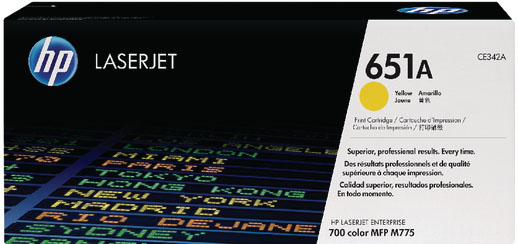 Genuine HP CE342A (#651A) Yellow Toner Cartridge (HPCE342AYOEM)