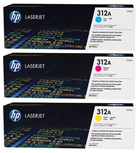 Genuine HP CF440AM (#312A) C/M/Y Multi Pack Toner Cartridge (HPCF440AMCMYMULTIOEM)